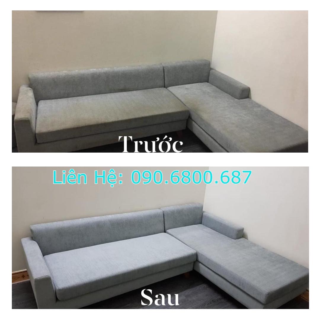 Hình ảnh giặt ghế sofa vải