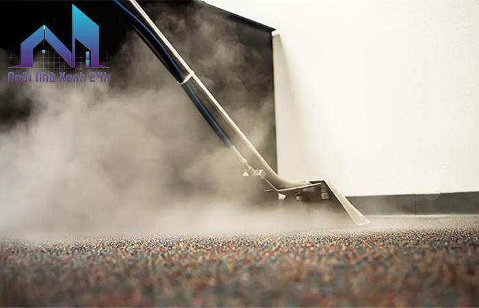 Dịch vụ giặt thảm công nghiệp sử dụng công nghệ phun hơi nước nóng
