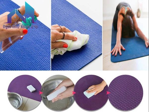 cách giặt thảm yoga bằng tinh dầu