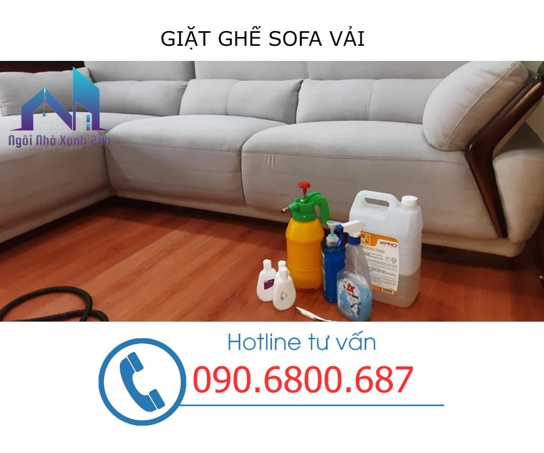 Các bước giặt ghế sofa tại quận 4 - sofa vải