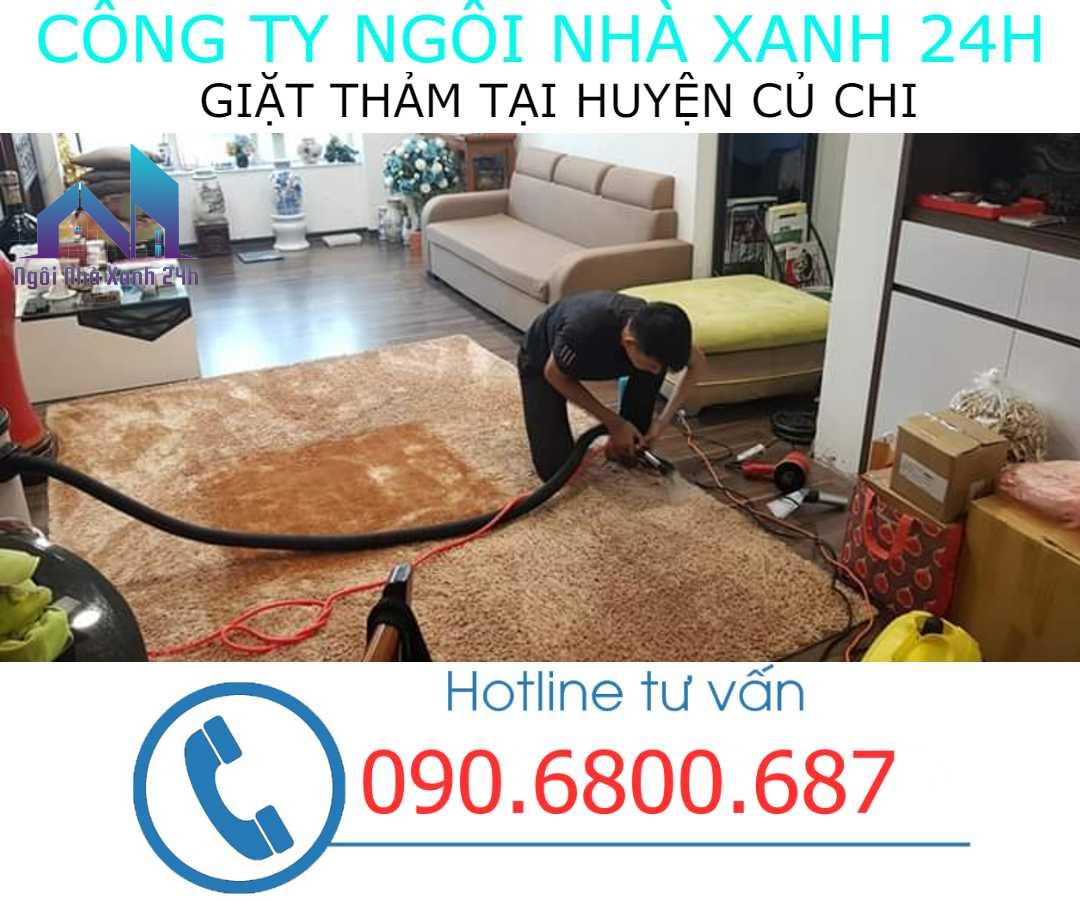Giặt thảm tại nhà huyện Củ Chi- Thảm trang trí