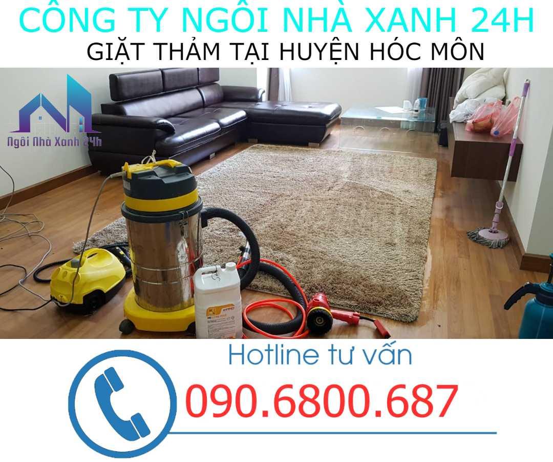 Giặt thảm tại nhà huyện Hóc Môn- Thảm trang trí