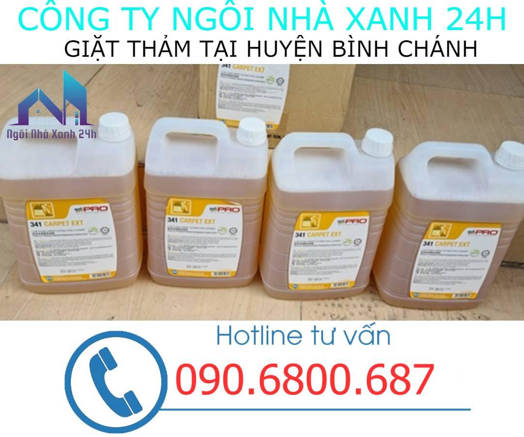 Hóa chất giặt thảm tại Huyện Bình Chánhchuyên dụng
