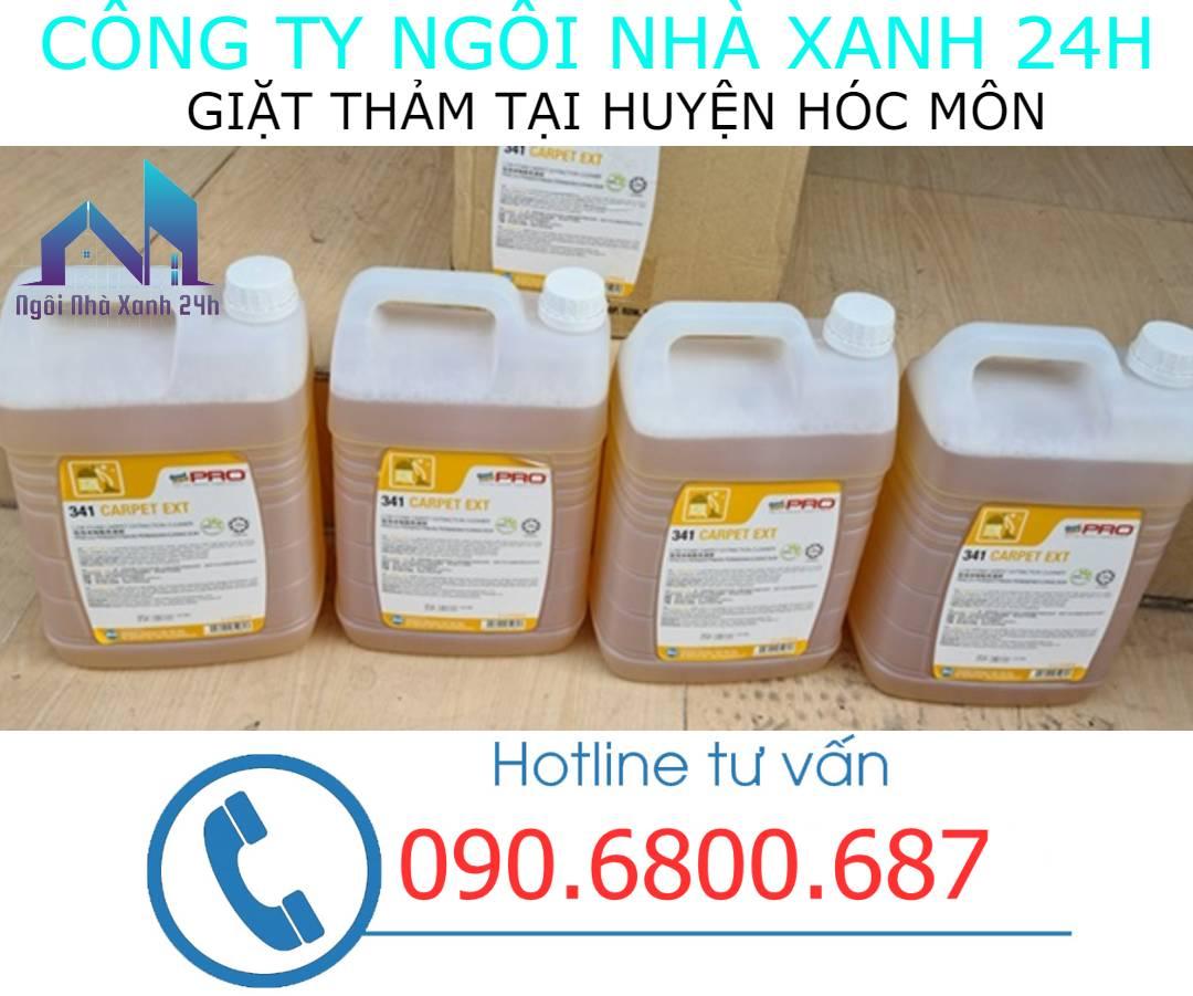 Hóa chất giặt thảm tại Huyện Hóc Mônchuyên dụng