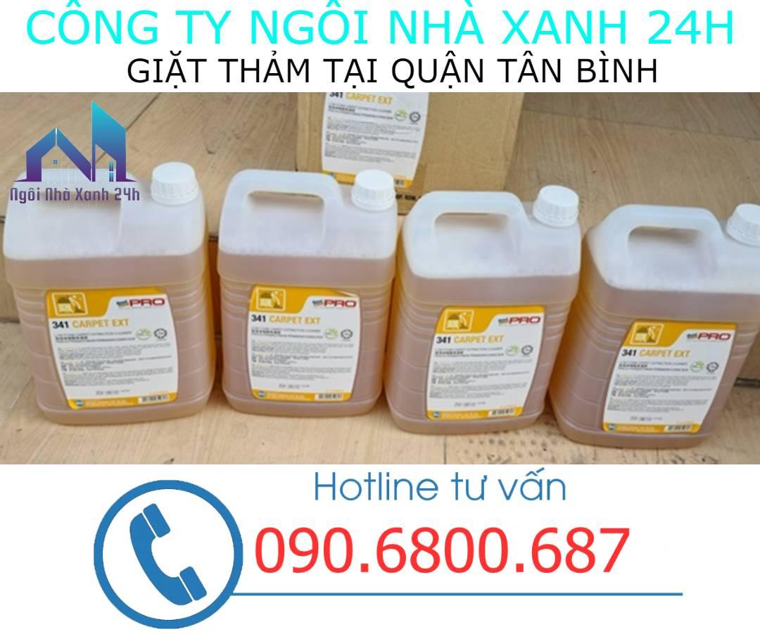 Hóa chất giặt thảm tại quận Tân Bìnhchuyên dụng