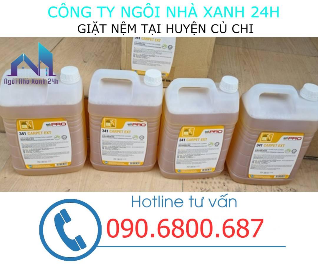 Hóa chất vệ sinh nệm huyện Củ Chi