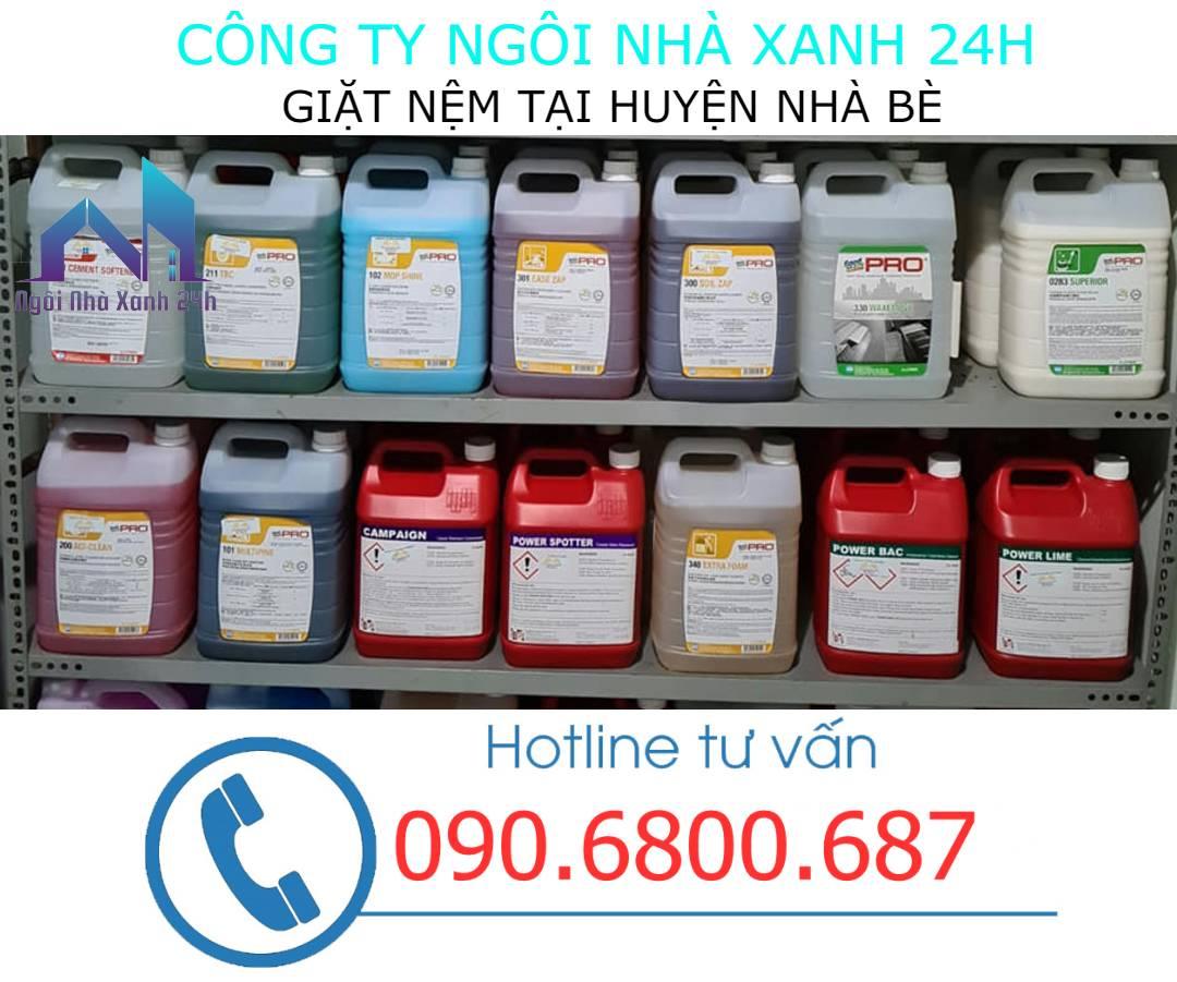 Hóa chất vệ sinh nệm huyện Nhà Bè