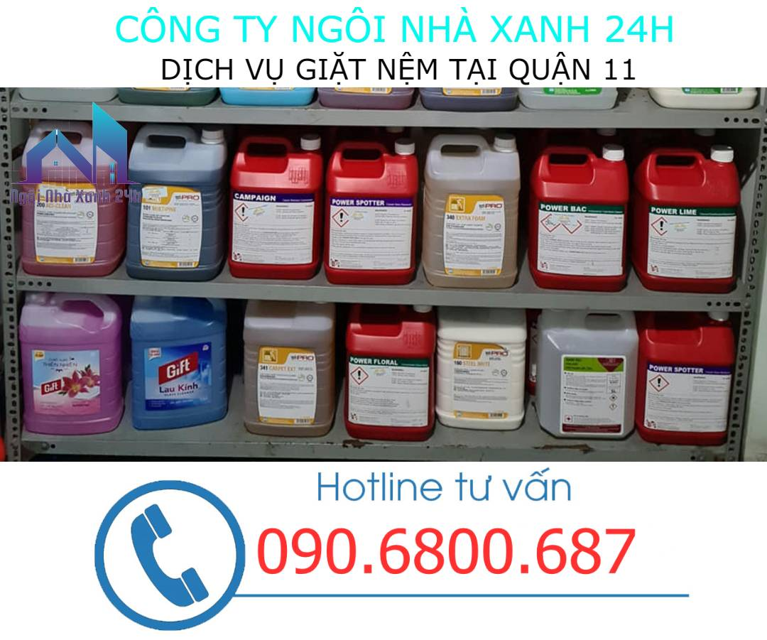 Hóa chất vệ sinh nệm quận 11