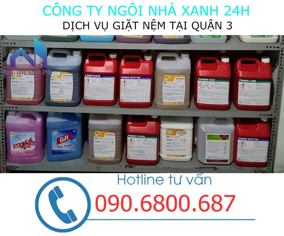 Hóa chất vệ sinh nệm quận 3