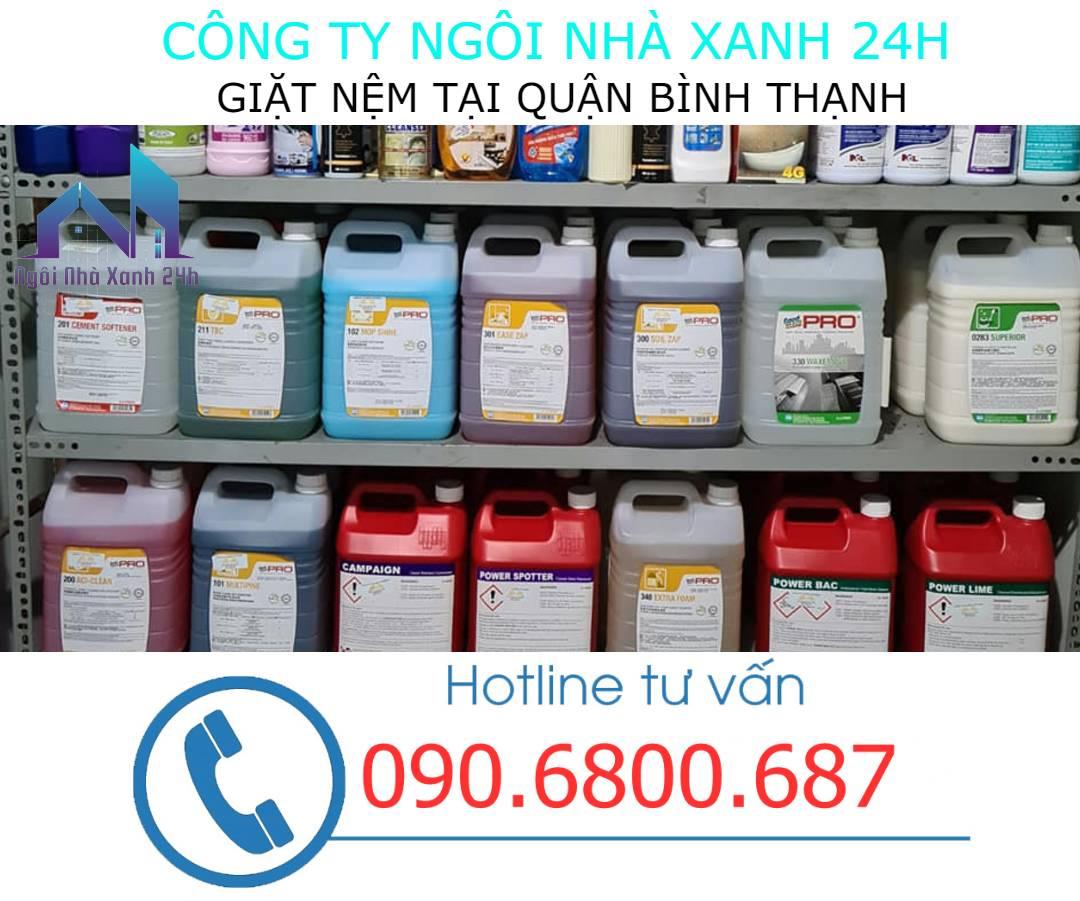 Hóa chất vệ sinh nệm quận Bình Thạnh