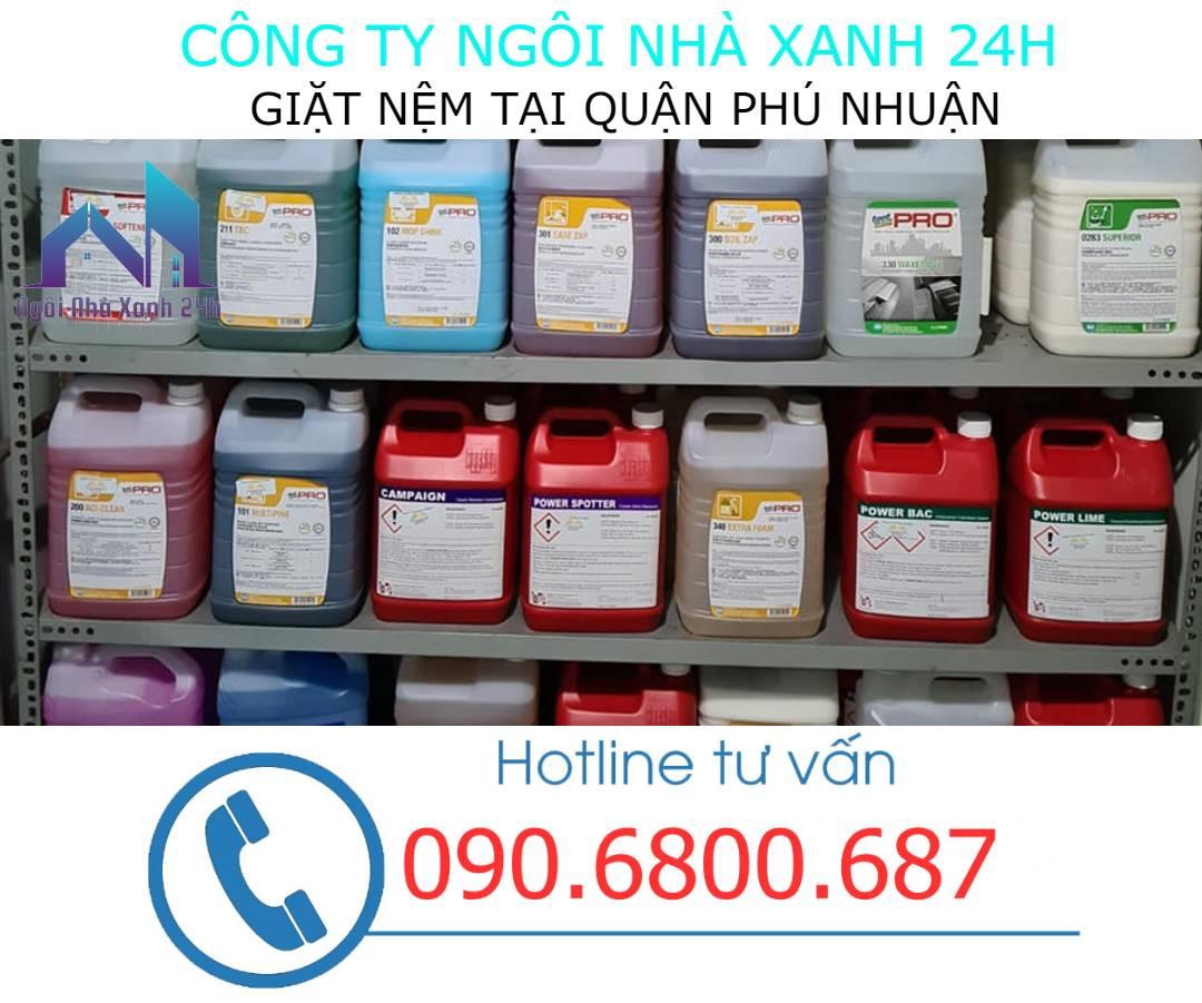 Hóa chất vệ sinh nệm quận Phú Nhuận
