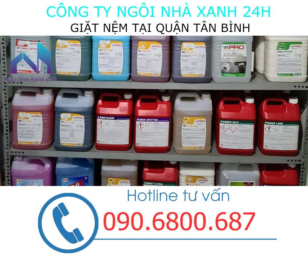 Hóa chất vệ sinh nệm quận Tân Bình