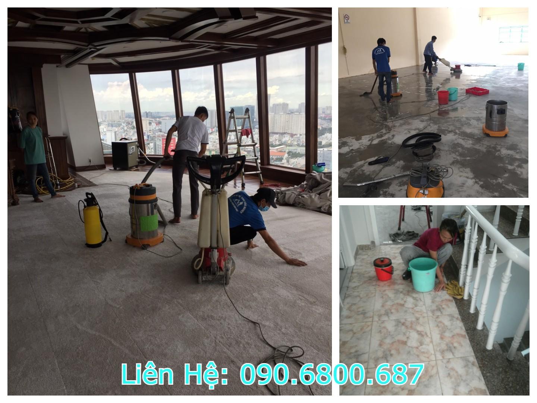 Nhân viên dịch vụ vệ sinh căn hộ chung cư chuyên nghiệp