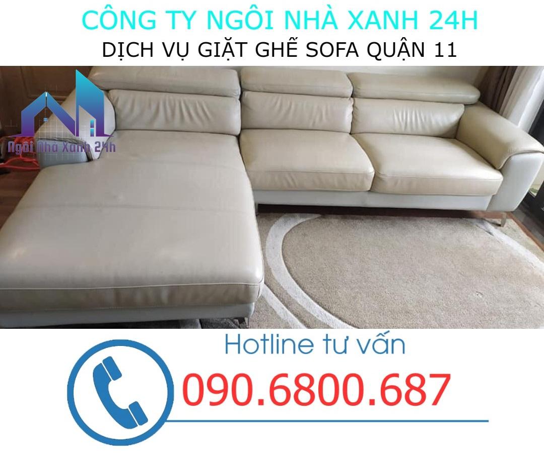 Quy trình giặt ghế sofa da quận 11