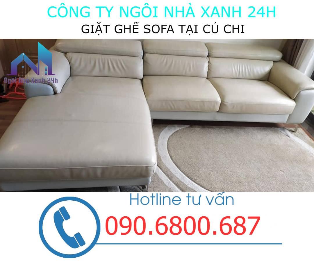 Quy trình giặt ghế sofa da tại Củ Chi