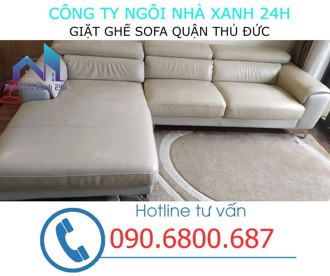 Quy trình giặt ghế sofa da tại quận Thủ Đứ