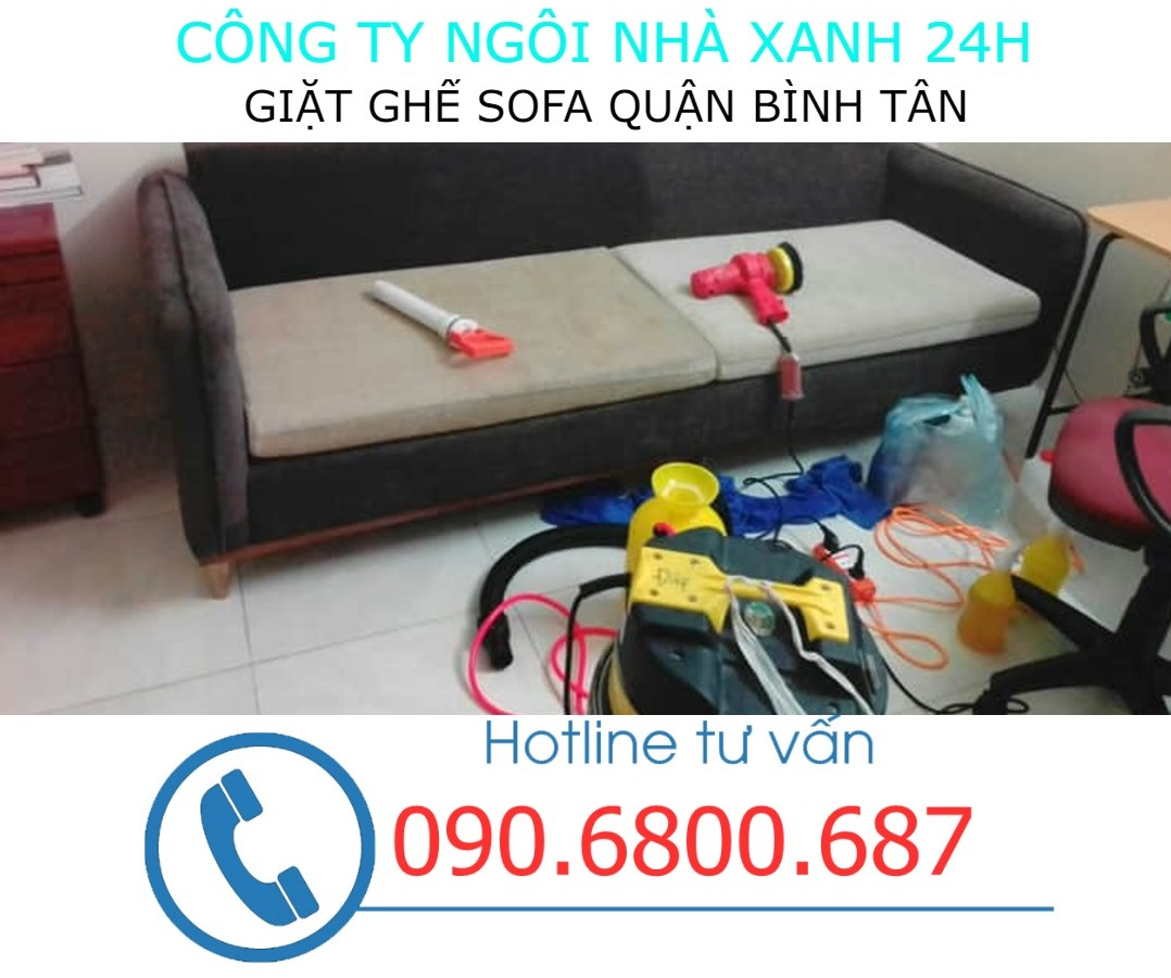 Quy trình giặt ghế sofa tại quận Bình Tân