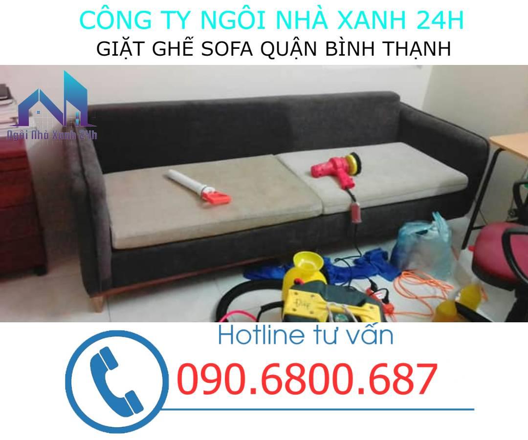 Quy trình giặt ghế sofa tại quận Bình Thạnh