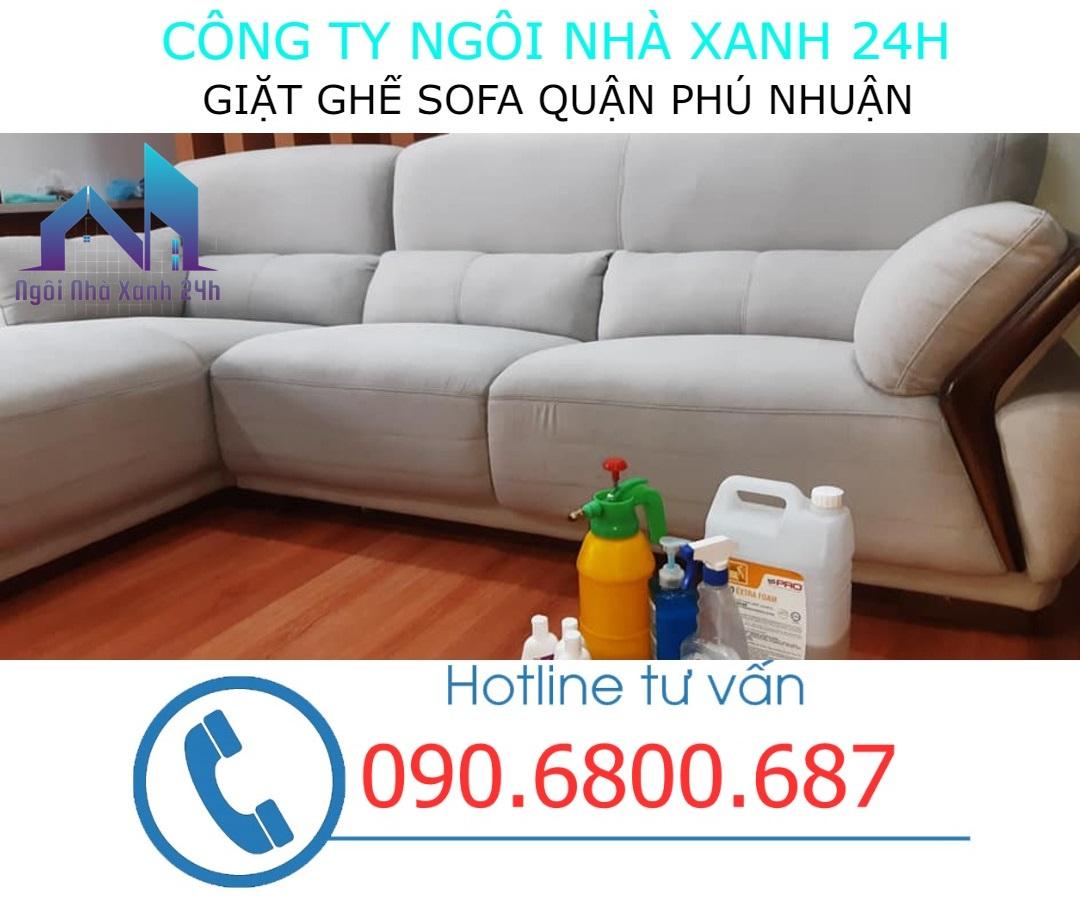Quy trình giặt ghế sofa tại quận Phú Nhuận