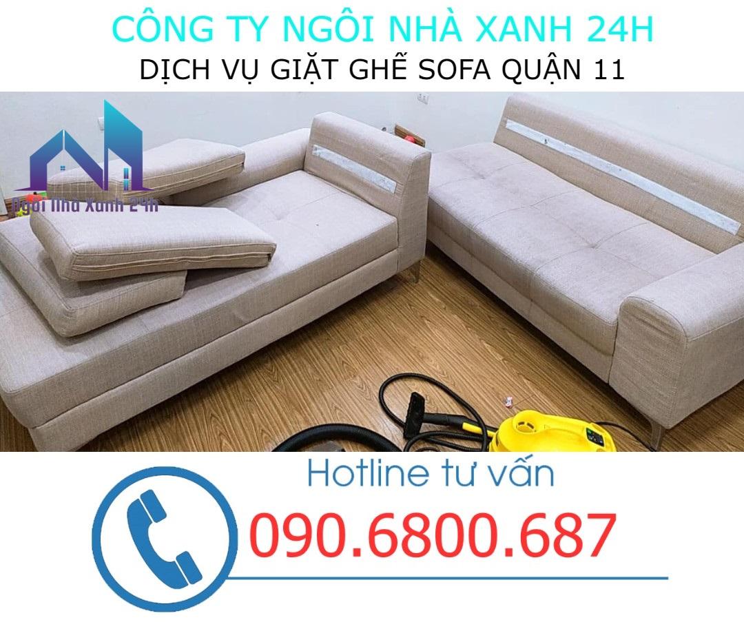 Quy trình giặt ghế sofa vải quận 11