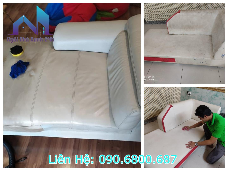 hình ảnh vệ sinh ghế sofa da quận 6