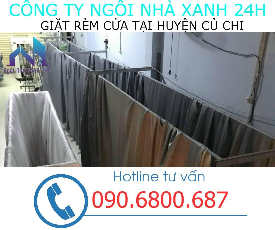 Hệ thống phơi giặt màn tại nhà Huyện Củ Chi