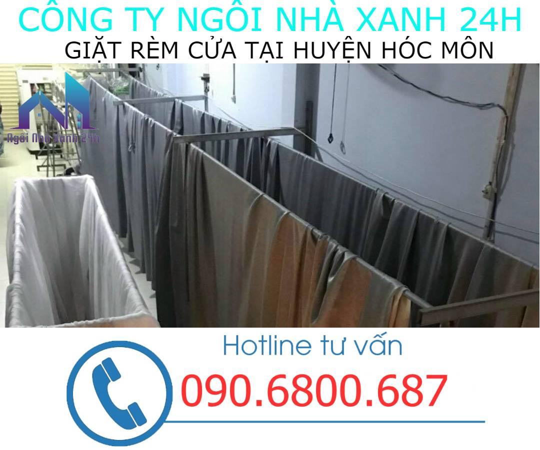 Hệ thống phơi giặt màn tại nhà Huyện Hóc Môn